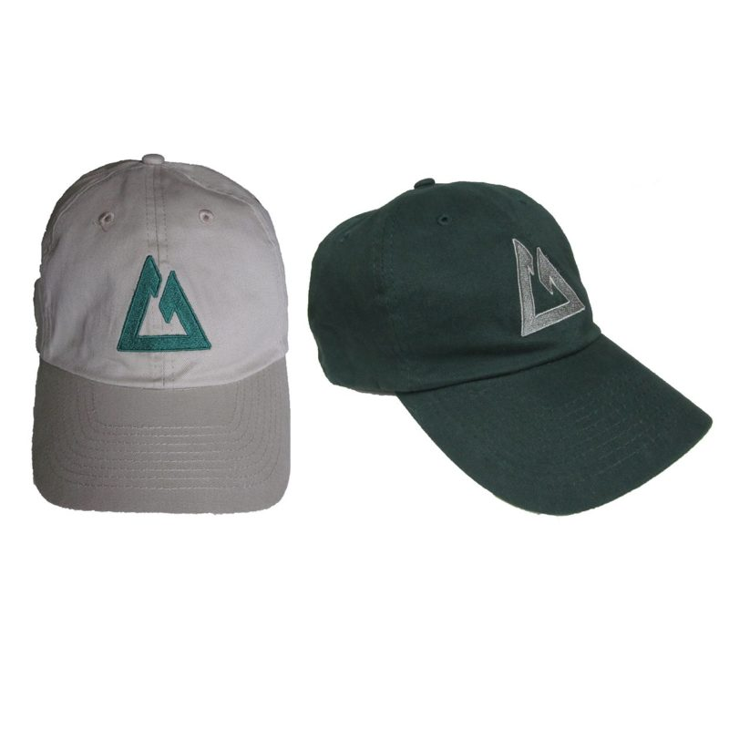 Logo on front and Name on back, the CT Ball Caps come in khaki and green...Sharp!