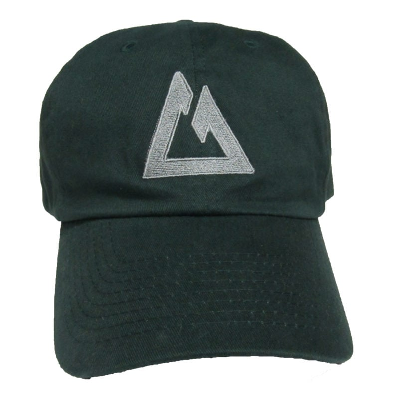 Green CT Ball Cap with Silver Embroidery