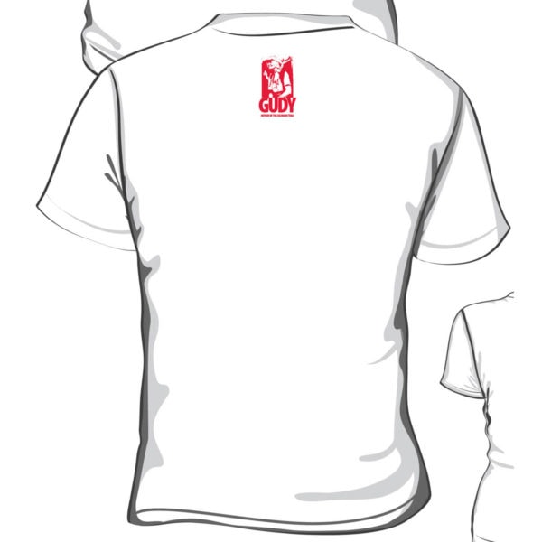 back of Gudy unisex T-shirt