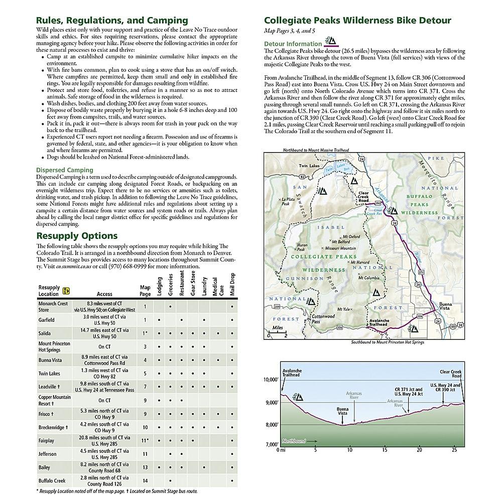 Hwy 285 Colorado Map.National Geographic Map Guide Colorado Trail North Colorado