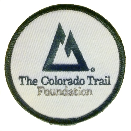 CT Patch embroidered green on white, 3 inches round