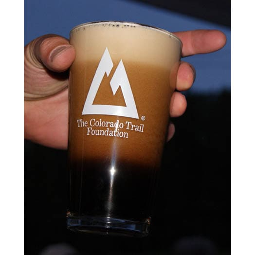 Pint Glass with dark beer