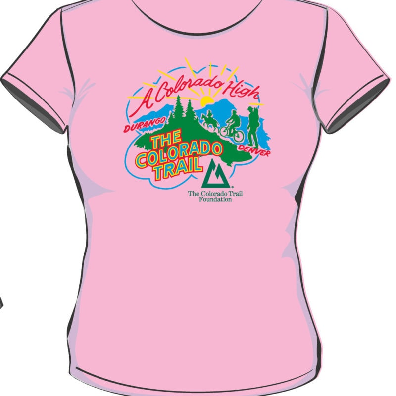front of pink Gudy Gaskill top