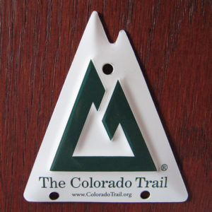 photo of metal Trail Marker