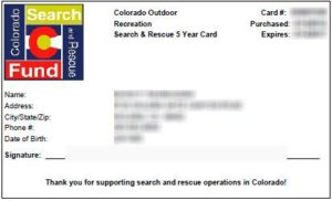 Colorado Search and Rescue Card