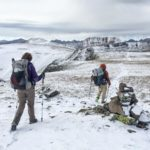 hikers in snow