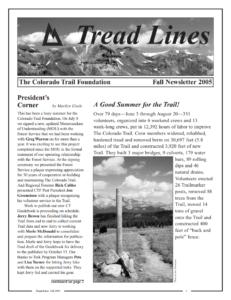 Fall 2005 Treadlines