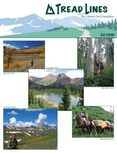 Front Page of The Colorado Trail Newsletter