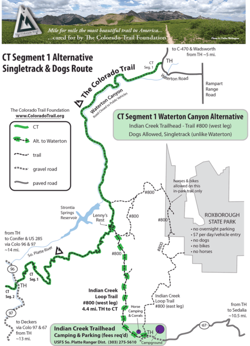 Map of Segment 1 and Indian Creek Alternative