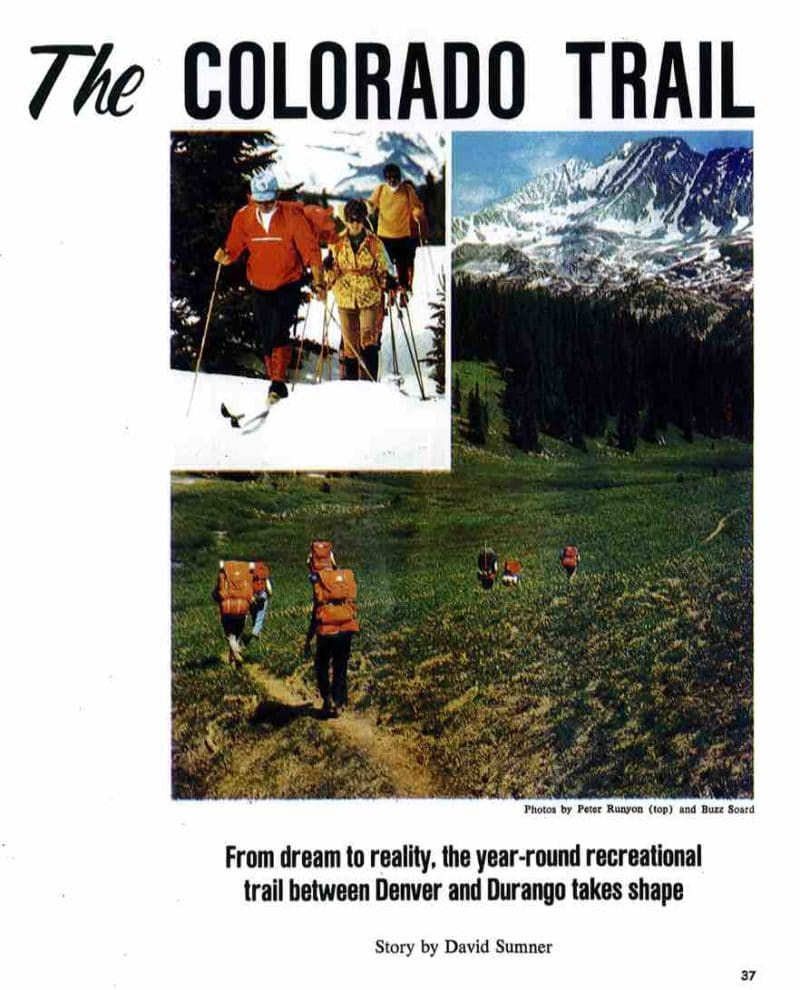 1976 planners envision The Colorado Trail in this Colorado Magazine article.