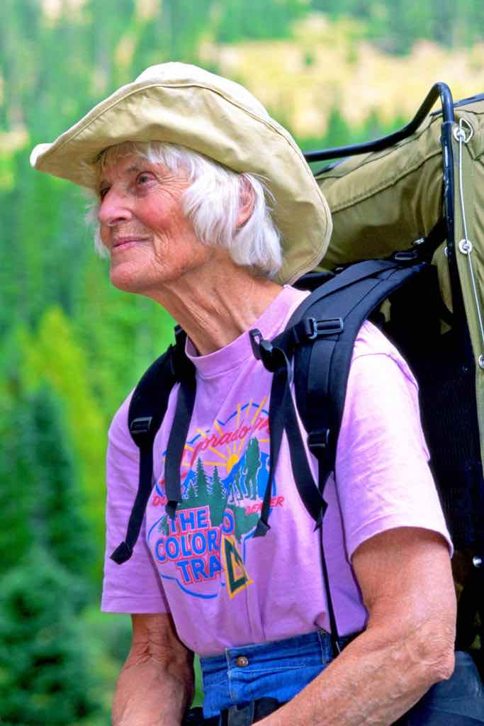 "Gudy Gaskill, CMC Chair of the Huts and Trails Committee. She became known as the ""Mother of The Colorado Trail."""