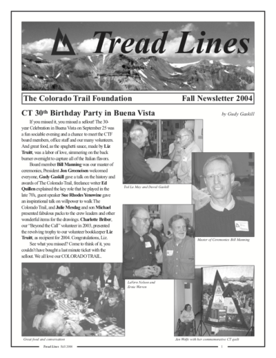 cover of Tread Lines newsletter