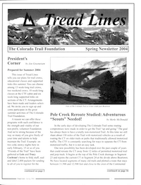 Front page of TreadLines 2004 Spring