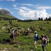 CT travelers encounter others in Segment 25 near Molas Pass above Silverton.