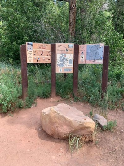 Trailhead sign at the Durango terminus is at the Junction Creek Trailhead about 3-1/2 miles from Main Avenue in town.