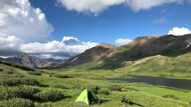 During his thru-bikepacking, Colin Hughes took this in CT Segment 23 near Cataract Lake above Silverton.