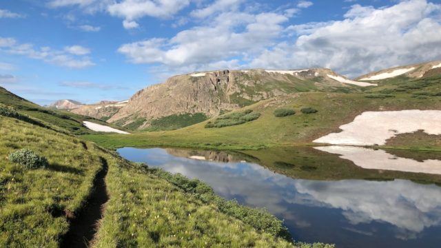 CT travelers are reporting near-ideal conditions along The Colorado Trail. Photo in CT Segment 23 is thanks to bikepacker Colin Hughes.