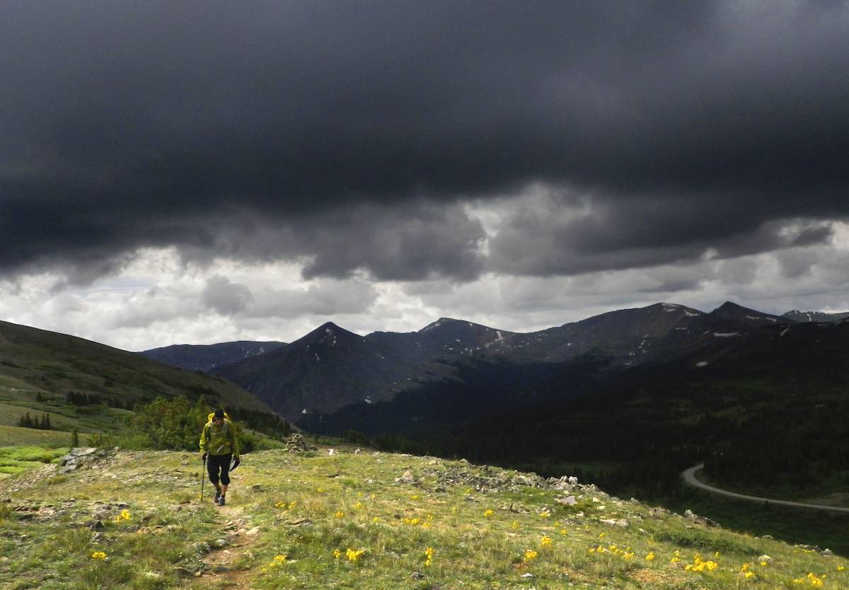 Storm Clouds on The Colorado Trail Collegiate West near Cottonwood Pass. Photo Dean Krakel