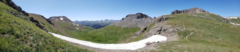 The Colorado Trail in Segment 23 above Silverton.