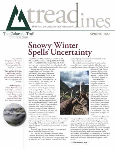 2020, Spring - Snowy Winter in 2019 Spells Uncertainty