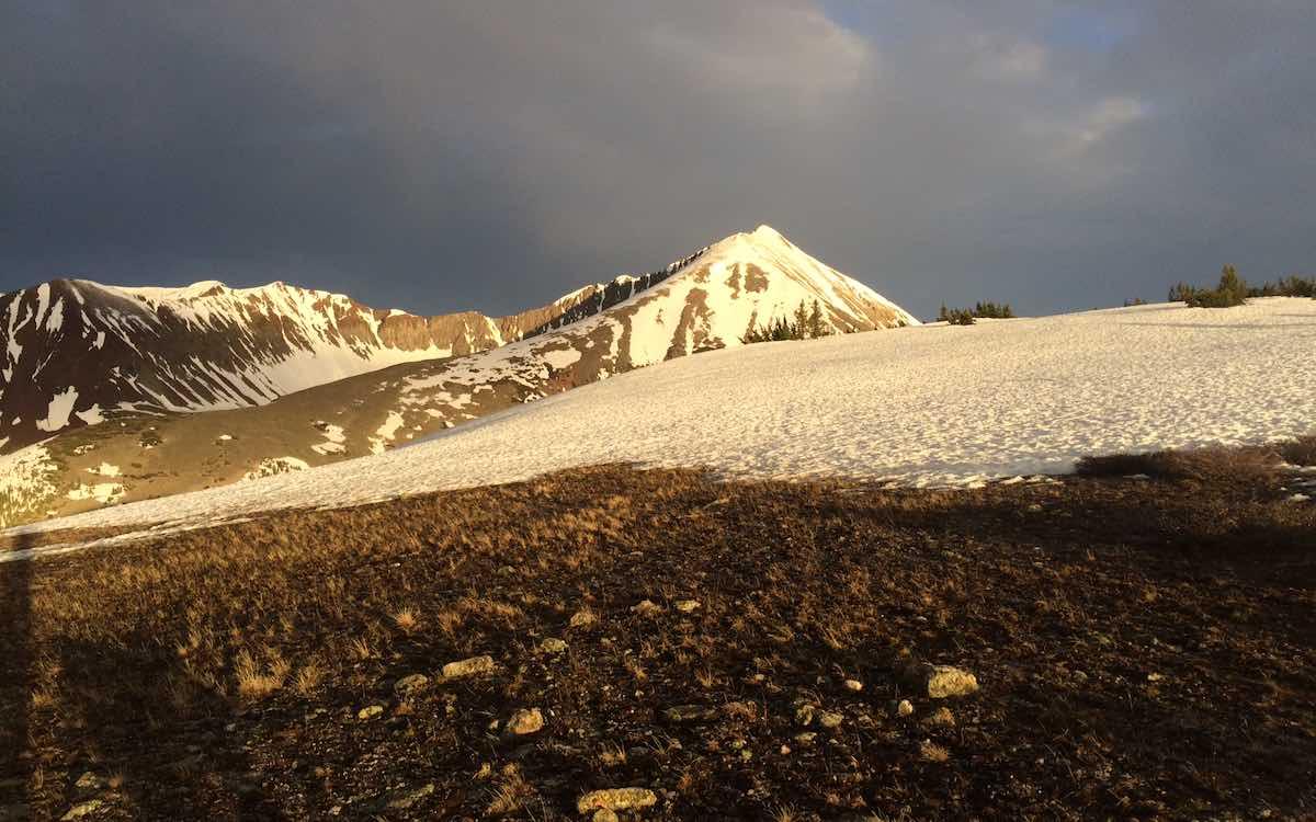 Early June Snowpack Approaching Georgia Pass along Colorado Trail Segment 6