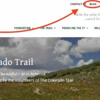 Colorado Trail updates are on the CTF Blog Page