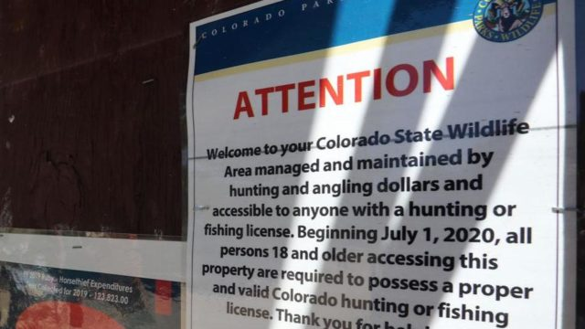 Fishing License Required to travel in Colorado State Wildlife Areas