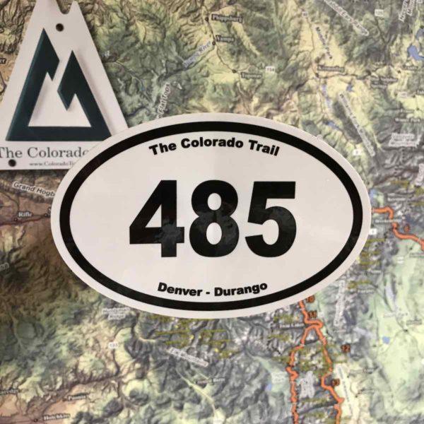 485 Sticker commemorates The Colorado Trail
