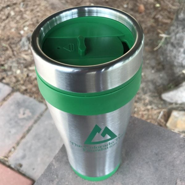 Sip Top on the Stainless CT logo Travel Mug