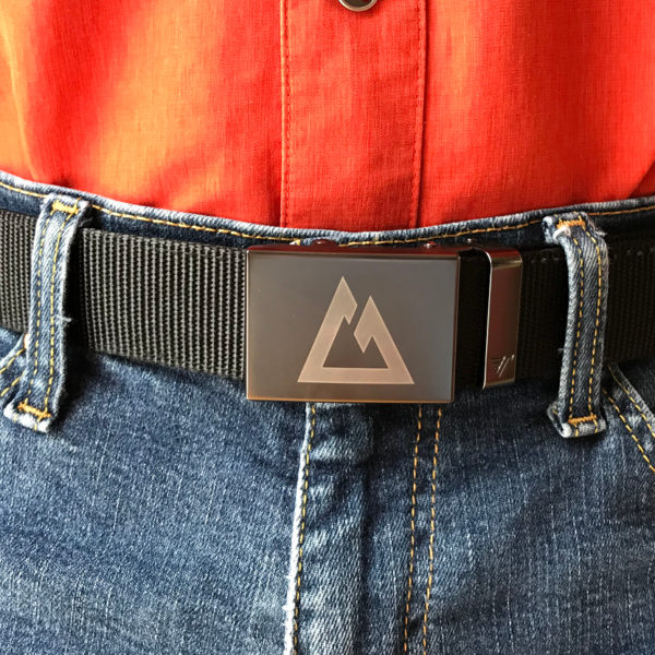 Custom CT Logo Belt being worn