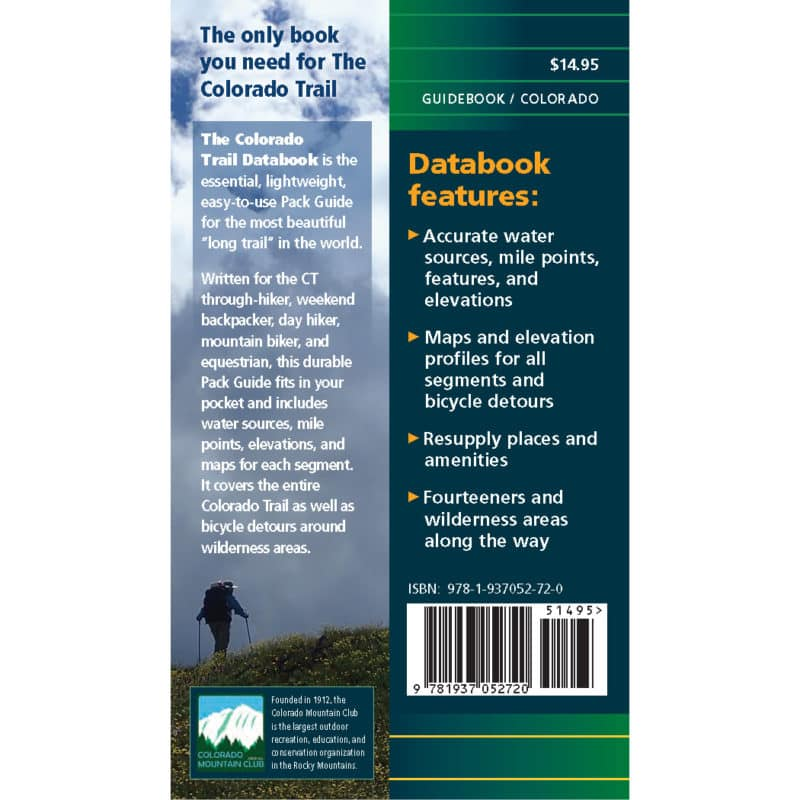 Colorado Trail Databook 8 back cover